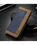 Blue CaseMe Flip Denim Wallet Case